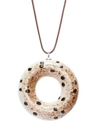 Tadam! Design - Basic Instinct Doughnut Pendant Necklace - Lyst