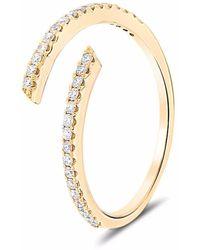 Cosanuova Spiral Diamond Ring 18k Yellow Gold - Metallic