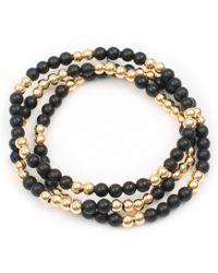 Twenty-2 Jewelry - A A On Black & Gold - Lyst