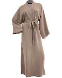 niLuu Sand Women's Kimono Robe - Natural