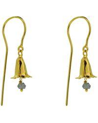 Yvonne Henderson Jewellery Bluebell Drop Earrings With Iolite - Metallic