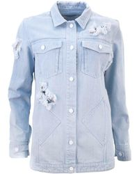 Juliana Herc - Light Blue Denim Jacket - Lyst