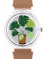 May28th - 05:52pm Brown Watch With Plants - Lyst