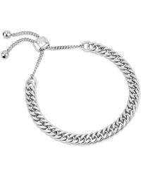 Coco & Kinney Charlotte Chain Bracelet In Silver - Metallic