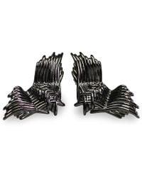 Bellus Domina - Angel Wings Stud Earrings - Lyst