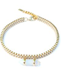 Clare Hynes Jewellery - Milly Choker Gold With An Opalite Pendant - Lyst
