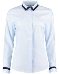 Sachini - Blue Shirt With Fine Trims - Lyst