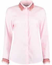 Sachini - Pink Shirt With Fringing Details - Lyst