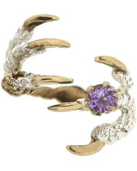 Tessa Metcalfe - Pigeon Grasp Claws Amethyst Ring - Lyst