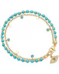 Astley Clarke Turquoise Evil Eye Droplet Bracelet - Blue