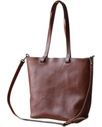 dorayaky - Nora Brown Leather Bag - Lyst