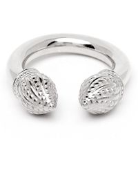 Durrah Jewelry Silver Cylinder Ring - Metallic