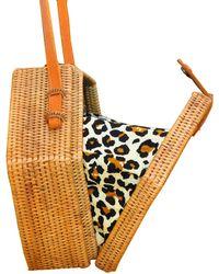 Soi 55 Lifestyle - Rattan Ata Hexagon Bag Leopard Print - Lyst