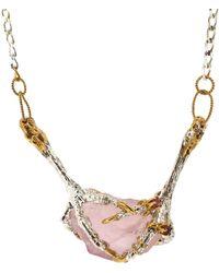 Tessa Metcalfe Rose Quartz Necklace With Ruby - Pink