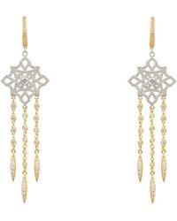 LÁTELITA London Celtic Knot Diamond Dream Catcher Earrings Gold - Metallic