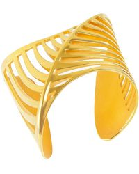 Cristina Cipolli Jewellery Sharch Bangle Cut Out Gold Vermeil - Metallic
