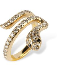 Nayla Arida - Diamond Snake Ring - Lyst
