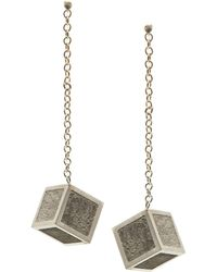 Stephanie Bates - Concrete Cube Drops Earrings - Lyst