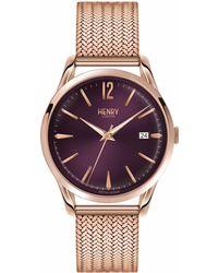 Henry London - Ladies 39mm Hampstead Stainless Steel Bracelet Watch - Lyst
