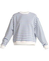 Paisie Striped Sweatshirt In Light Blue & White