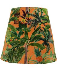 My Pair Of Jeans Pineapple Miniskirt - Multicolour