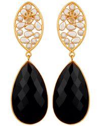 Carousel Jewels Crystal And Black Onyx Drop Earrings