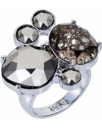 Nadia Minkoff - The Kate Cocktail Ring Silver Chrome - Lyst