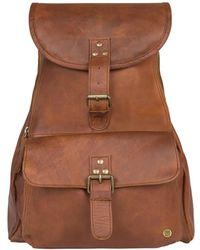 MAHI Leather Explorer Backpack/rucksack Womens In Vintage Brown