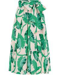 Emily and Fin Jemima Botanical Parakeets Skirt - Green