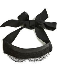 Something Wicked Lace & Leather Blindfold - Black