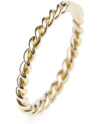 ISABEL LENNSE Extra Thin Ring Twisted Gold - Metallic
