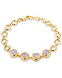 Coco & Kinney Moonstone Olivia Bracelet In Gold - Metallic