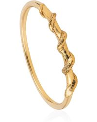 Lee Renee - Tiny Snake Ring Gold Vermeil - Lyst