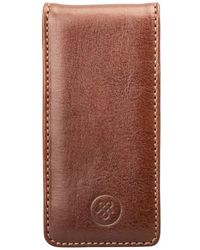 Maxwell Scott Bags - Luxury Iphone 5/5s Leather Flip Case For Cell Phone Renato - Lyst