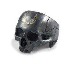 Frederick Grove Laurel Skull Ring - Multicolor