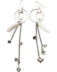 Tiana Jewel - Hoop Tassel Charm Earrings - Lyst