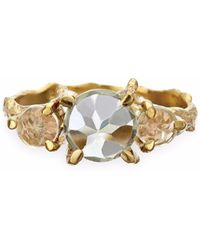 Chupi - Tiny Twinkle In The Wild Prasiolite Ring In Gold - Lyst