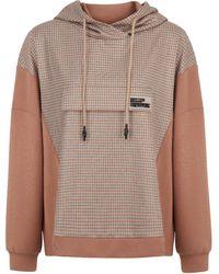 Nocturne Plaid Detail Sweatshirt - Multicolor