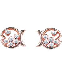 LÁTELITA London Bubble Fish Stud Earrings Rosegold - Multicolour