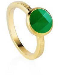 Neola Estella Gold Green Onyx - Metallic