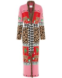 Hayley Menzies Leopardess Duster In Red & Pink