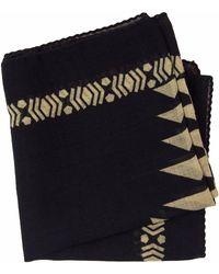40 Colori Black Aztec Printed Wool Bandana