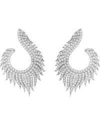 Latelita - Flame Hoop Earrings Silver - Lyst