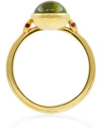 Lee Renee - Snake Peridot & Rubies Ring Solid Gold - Lyst