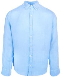 Haris Cotton Pythagoras Long Sleeve Shirt Galazio - Blue