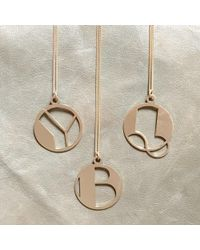 Alice Eden   Gold Deco Initial N Pendant Necklace   Lyst