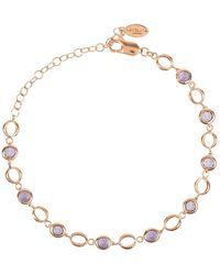 LÁTELITA London Milan Link Gemstone Bracelet Rose Gold Amethyst - Multicolour