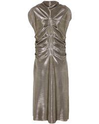 DANEH Metallic Front Pleated Dress