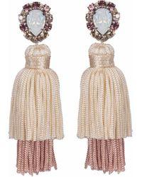 Wafa By Wafa - Cream & Pink Gaia Earrings - Lyst