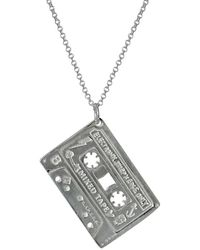 Edge Only Mixed Tape Pendant In Silver - Metallic